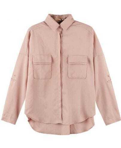 Vintage Chiffon Shirt Pink