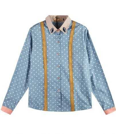 Polka Dot Shirt Light Blue