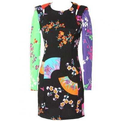 Multicolor Vintage Floral Backless Dress