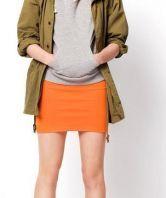 Candy Color Slim Package Hip Skirt Orange