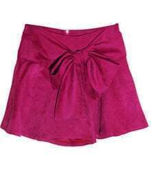 Vintage Bow Skirt Rose Red