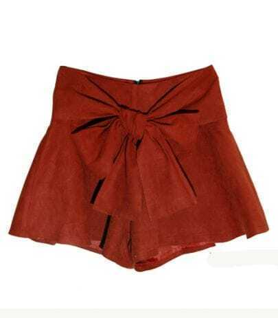 Vintage Bow Skirt Rust Red