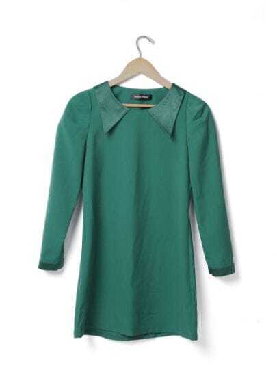 Green Vintage Long Sleeve Dress