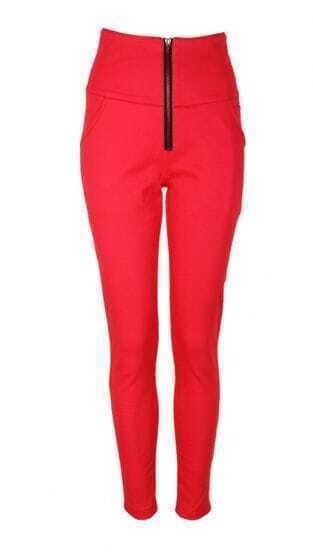 Red Vintage High Waist Skinny Pant
