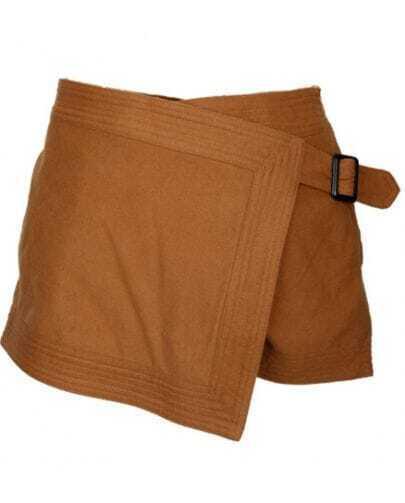 Camel Woolen Package Shorts