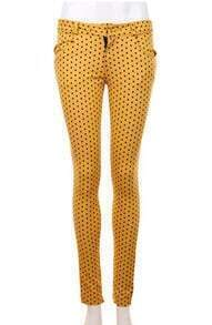 Leisure Vintage Pencil Pants Yellow