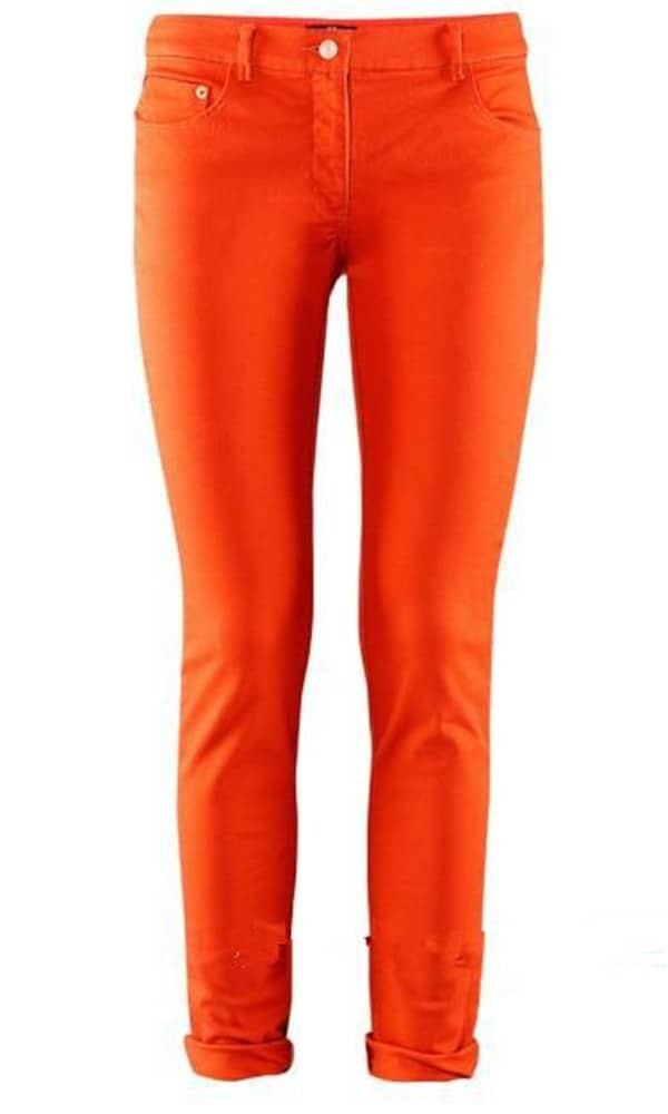Orange Skinny Jeans -SheIn(Sheinside)