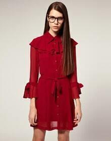 Red Fashion Vintage Dress