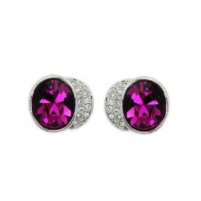 Gloria Rose Red Crystal Stud Earrings