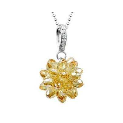 God's Promise Sunshine Flower Pendant in Crystal