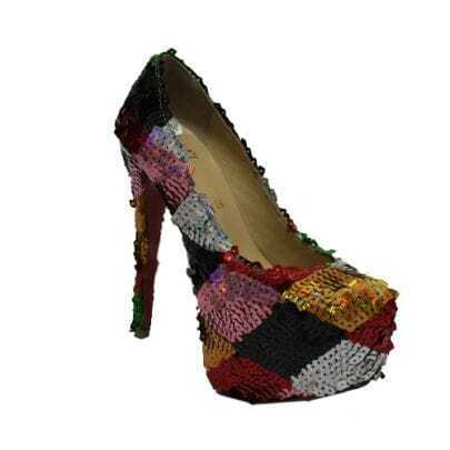 Daffodile 160mm Multicolor Glitter Pump