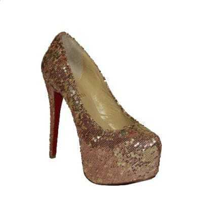 Golden Glitter Daffodile 160mm Pump