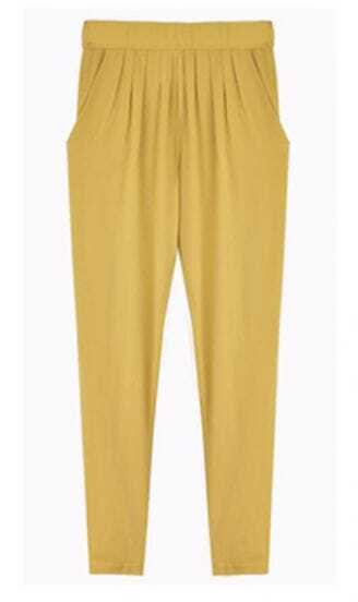 Yellow Loose Casual Pant
