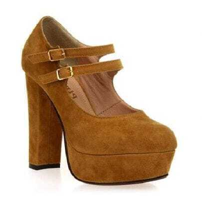 Buckles Ginger Platform Shoes