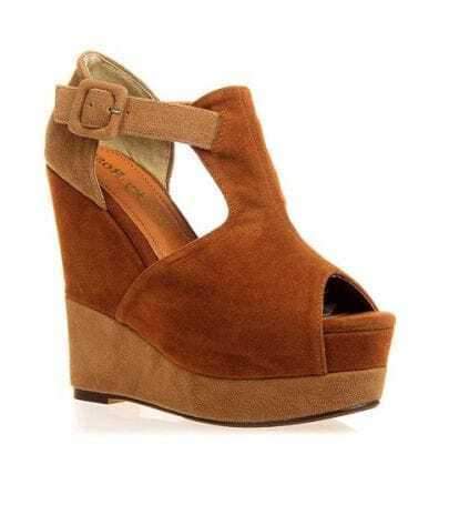 Color Contrast Camel Wedges