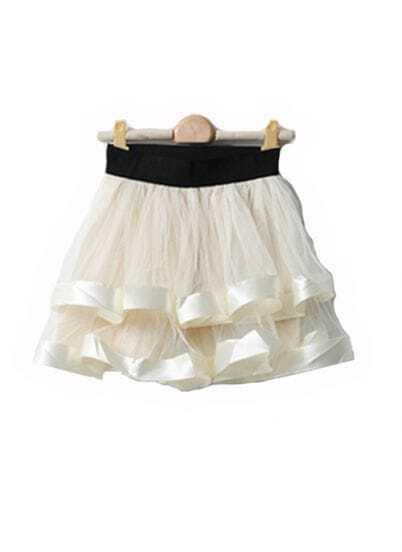 Ivory Net Yarn Ball Gown Skirt