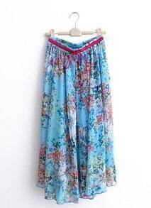 Blue Print Large Sweep Skirt