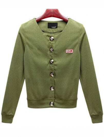 All-match Army Green Short Coat