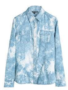 Light-blue Denim Long Sleeve Shirt