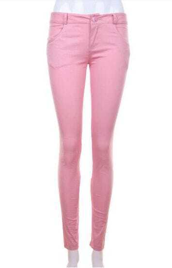 Vintage Fashion Casual Pants Pink