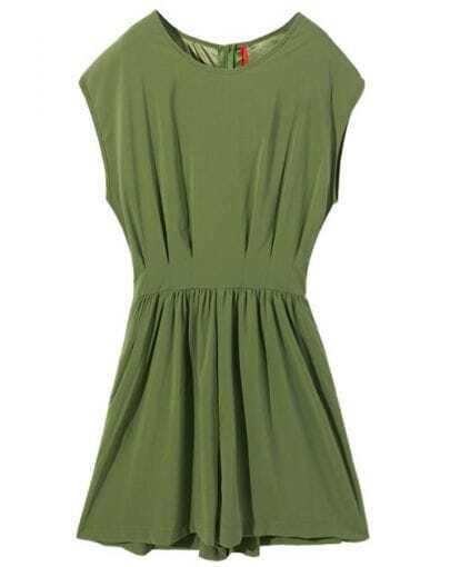 Green Chiffon Jumpsuit
