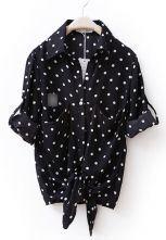 Black Sweep Knot Pot Print Shirt