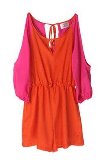 Orange Off The Shoulder Jumpsuit
