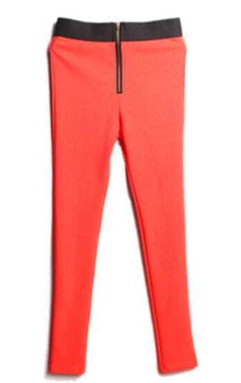Orange Skinny Leggings