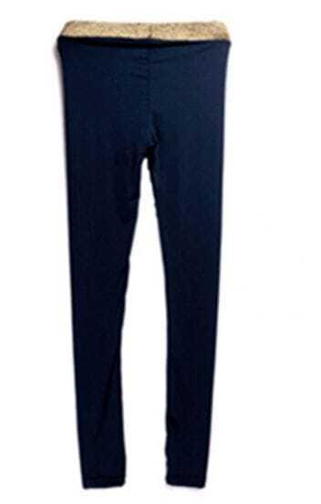 Blue Skinny Leggings