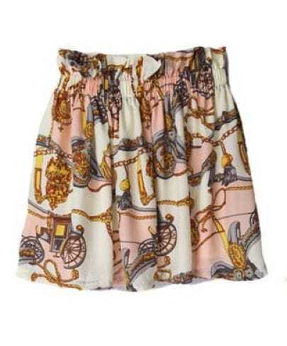 High Waist Silk Skirt Pink