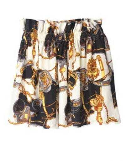High Waist Silk Skirt Black