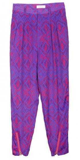 Purple Totem Printed Haren Pants