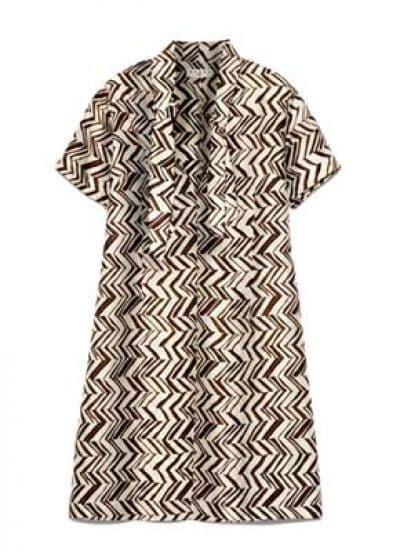 V Neck Silk Short-sleeved Straight Dress