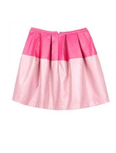 Pink Patchwork Above Knee Skirt