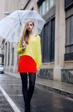 Yellow Loose Joker Long Sleeve Sweater