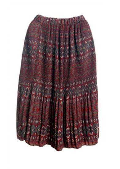 Shivering Vintage Chiffon Print Skirt