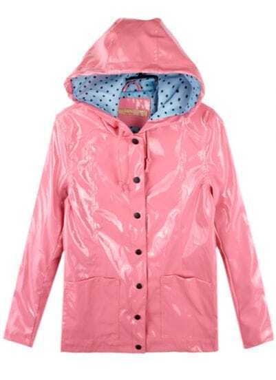 Pink Vintage Dot Raincoat Outerwear