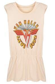 Nude VAN HALEN LIVE 1982 Shoulder Pad Sleeveless Peplum T-shirt