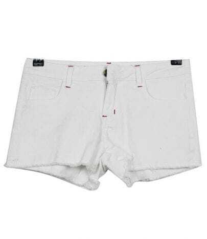 Vintage Candy Color Low-waist Shorts White