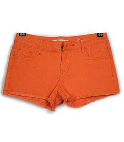 Vintage Candy Color Low-waist Shorts Orange