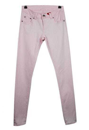 Vintage Candy Color Slim Pants Pink