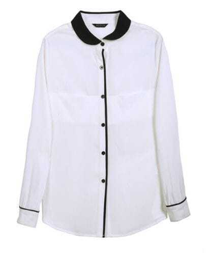 All-match Lapel Long-sleeved Slim Shirt
