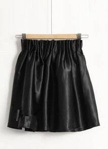 Black Stain Face High Waist Skirt