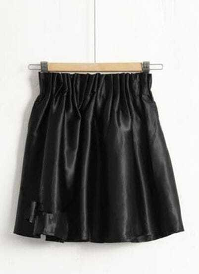 Black Stain Face High Waist Skirt