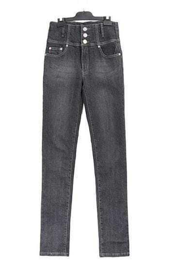 Vintage High-waist Slim Jeans