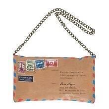 Vintage Envelope Chain Bag
