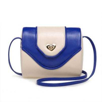 Vintage White and Blue Cross Body Bag