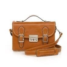 Vintage Camel PU Satchel bag