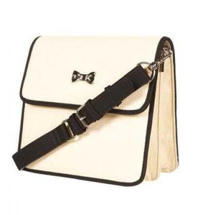 Vintage White Bow Shoulder Bag