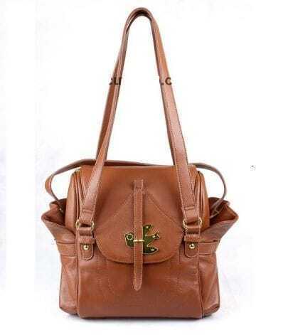 Camel PU Shoulder Bag